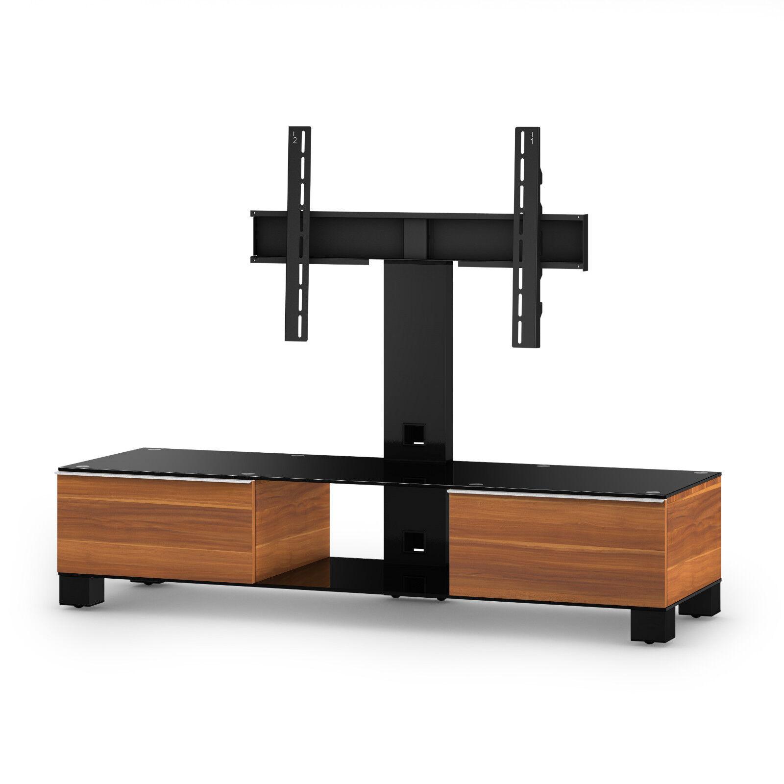SonGoldus MD 8140-B-HBLK-APL TV-Möbel TV-Möbel TV-Möbel Fernsehtisch für 60  Fernseher, Apfel-Dekor 1548dd