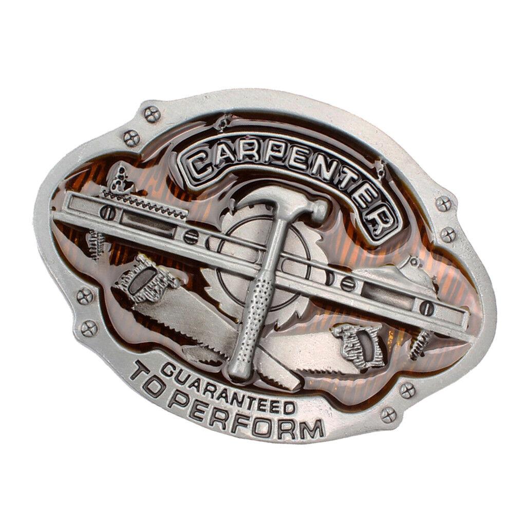 Tischlerwerkzeug-Musterlegierungs-Gürtelschnalle-Cowboygeschenk Westmänner