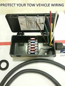 sealed fuse junction box for trailer amp rv 4 way or 7 way image is loading sealed fuse junction box for trailer amp rv