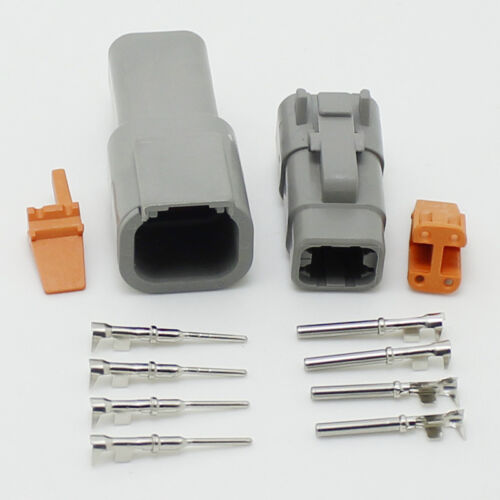 2 sets DTM04-4p and DT06M-4S 4 Pin Waterproof Electrical Wire Connector Plug