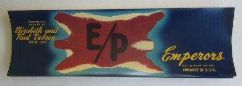 E//P - BEAR SKIN RUG Wholesale Lot of 100 Old Vintage Grape LABELS Exeter CA