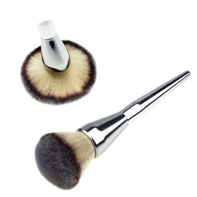 Hot 1pcs Face Makeup Blush Powder Silver Handle Cosmetic Large Brush