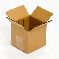 Small Cardboard Packing Box Gift Moving Mailing Boxes, 25 Pack 4x4x4