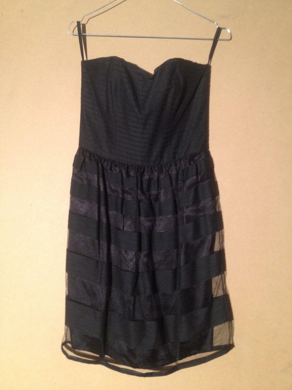 Tara Jarmon Robe Bustier Coton Polyester Tulle schwarze 38