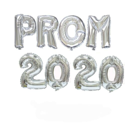 """SILVER PROM 2020 Letter BALLOON 16/"""" FOIL Air Foil BALLOONS Party Graduations"""