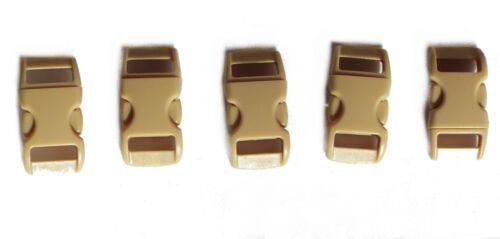 lot n°3 pour paracorde. 5 fermoirs boucles rapides beige taille S