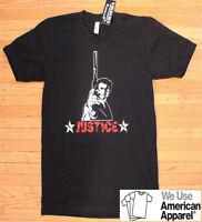 Clint Eastwood Dirty Harry Justice T-shirt American Apparel Unforgiven Gun