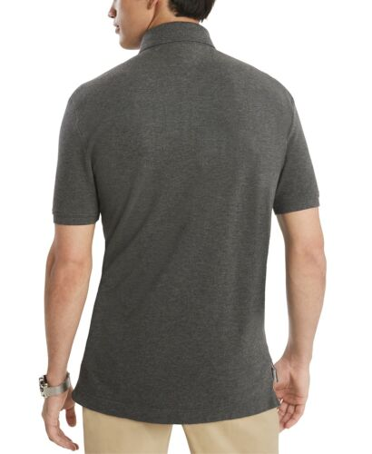 NWT Tommy Hilfiger Men/'s Custom Fit Essential Solid All Cotton Mesh Polo Shirt