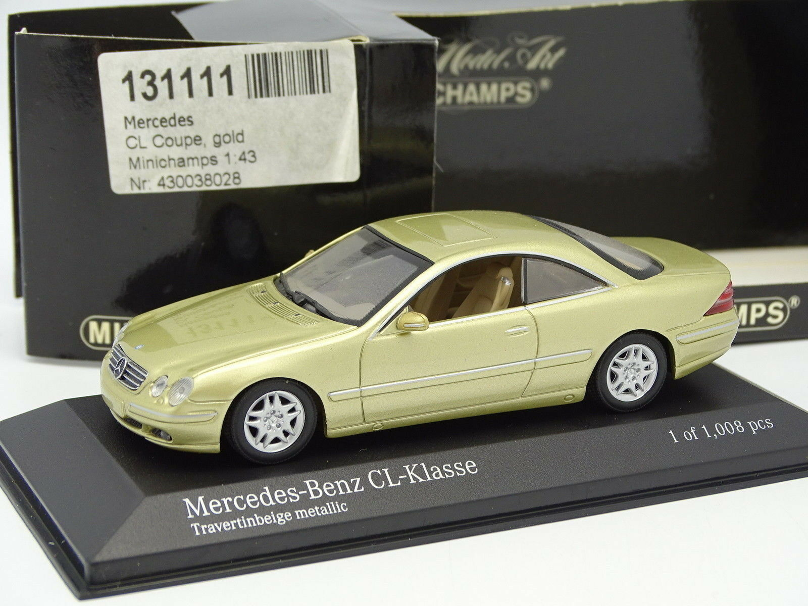 Minichamps 1 43 - Mercedes CL Coupe oro