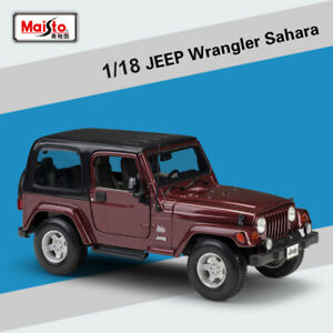 1-18-Scale-Jeep-Wrangler-Sahara-Alloy-Toy-Collection-by-Maisto-Diecast-Car-Model