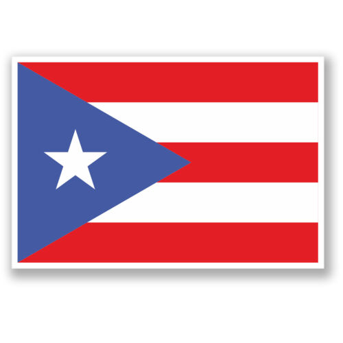 2 x Puerto Rico Sticker iPad Laptop Decal Flag Travel Luggage Tag Gift #4375