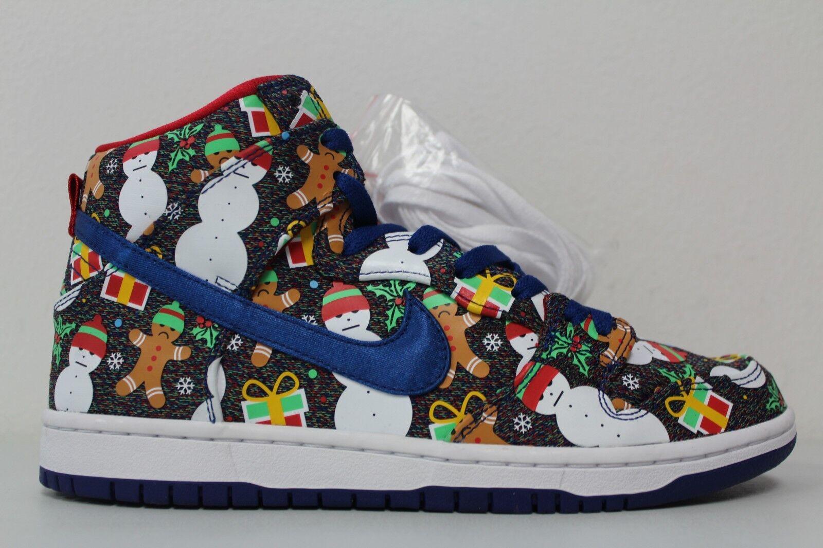 Nike Mens SB Dunk High TRD TRD TRD QS Ugly Sweater Christmas 881758 446 Size 8.5 d7b857