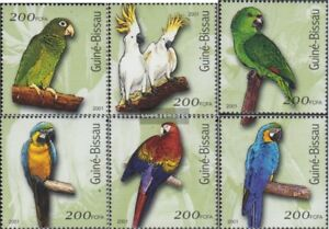 Stamps Never Hinged 2001 Birds Bringing More Convenience To The People In Their Daily Life Confident Guinea-bissau 1422-1427 Unmounted Mint Guinea-bissau