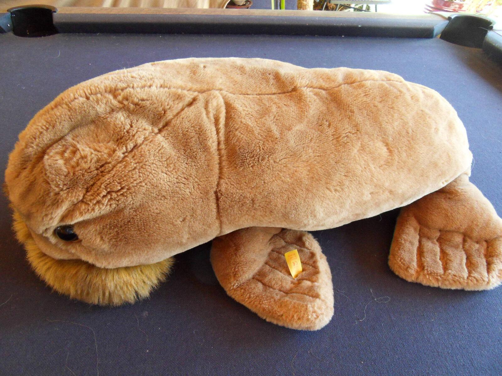 Steiff Walrus  Baby walrus  button flag stuffed  Germany 588