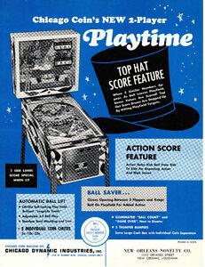 BREAKSHOT Original PROMO Pinball Flyer CAPCAM 1996 MINT Ad Slick Brochure