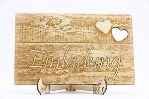 Das Bild Wird Geladen Holz Einladungskarten Laser Graviert Hochzeit  Einladung Einladung Holz