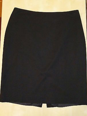 Womens Michael Kors Solid Black Pencil Skirt Size 12 Career Business Work Dress On Line