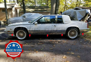 1986-1991-Cadillac-Eldorado-Chrome-Rocker-Panel-Trim-Body-Side-FL-8-5-034