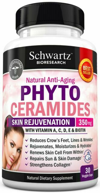 Phytoceramides 350 Mg W Biotin 5000 Gluten Powerful Anti Aging Skin Care Vi For Sale Online Ebay