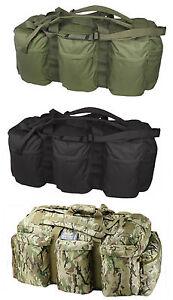 Combat-Army-Tactical-Bag-Holdall-Travel-Shoulder-Kit-Bag-Rucksack-Green-Black
