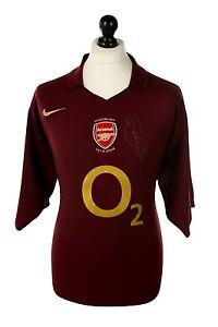 eb40d9bad2b Image is loading Robert-Pires-Signed-Shirt-Arsenal-Autograph-Highbury-Home-