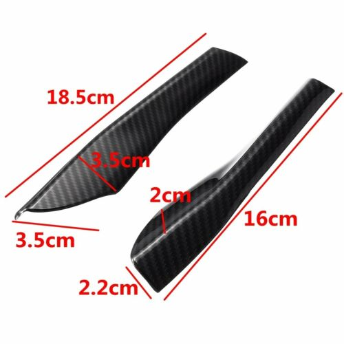 Rearview Mirror Base Cover Trim Decor 4Pcs ABS Carbon For Ford Mustang 2015-2018