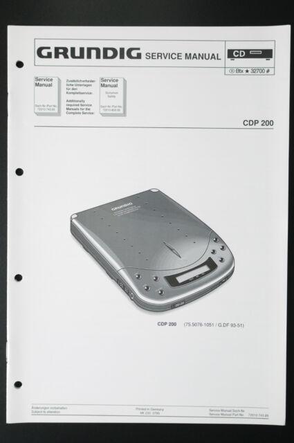Grundig Cdp 200 Original Service Manual  Service Manual