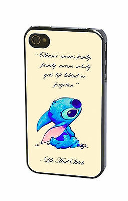 Disney Lilo And Stitch Quote Plastic Cute Case Cover for iPhone Samsung & iPod