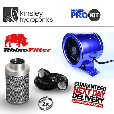 All Size CarboAir Filter Phresh Hyper Controller Ducting Kit Hydroponics