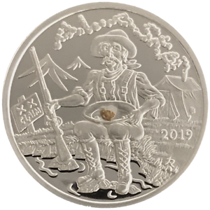 Alaska Mint 2019 Gold Panner Silver Medallion Proof 999