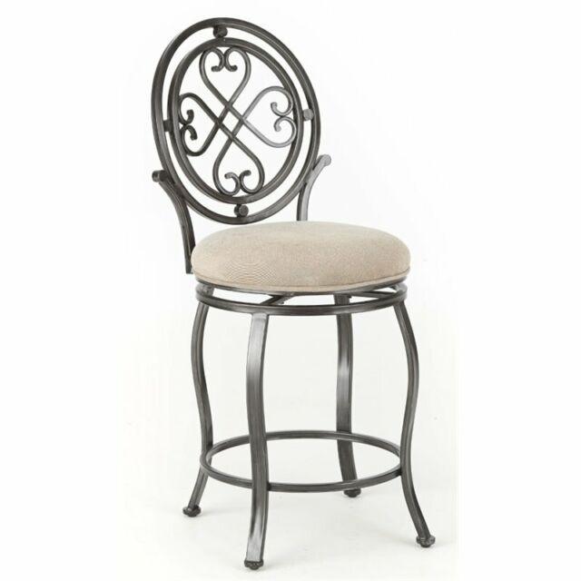 Outstanding Steve Silver Melrose 24 Swivel Counter Stool In Brushed Silver Forskolin Free Trial Chair Design Images Forskolin Free Trialorg