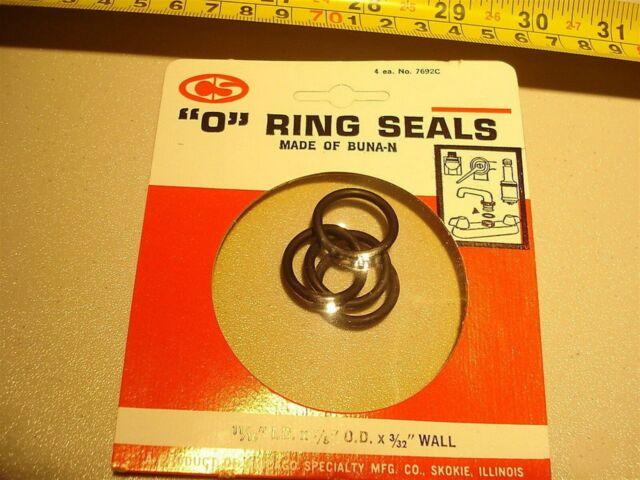 """Pack of 50 115 O Ring Seal Buna N; 11//16/"""" ID X 7//8/"""" OD X 3//32/"""" CS O-115"""