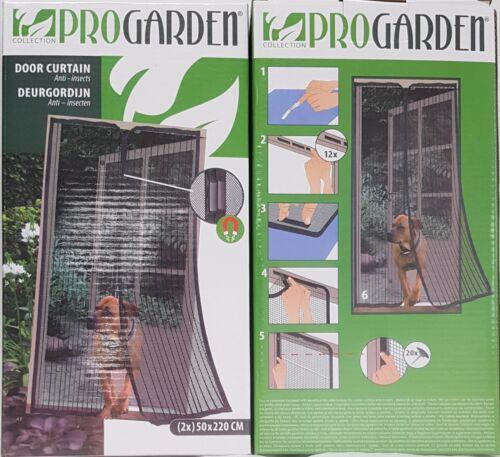 EF 2x Insektenschutz Türvorhang 100x220cm Magnetvorhang Insektenschutztür