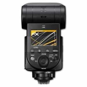 atFoliX-3x-Beschermfolie-voor-Sony-HVL-F60RM-Screen-Protector-mat-amp-schokbestendig