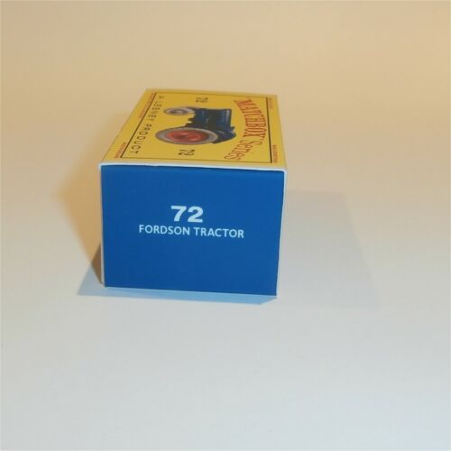 Matchbox Lesney 72 a Fordson Tractor empty Repro D style Box