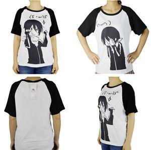Casual-Noragami-Crew-Neck-T-shirt-Cosplay-Costume-White-Unisex-Women-Men-Top-Tee