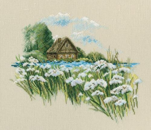 """Counted Cross Stitch Kit RTO M770 /""""Warm peace of the bloomy summer/"""""""