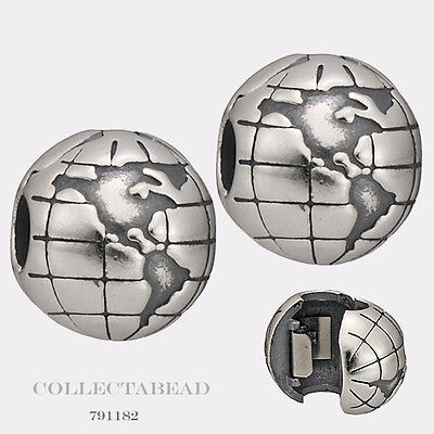 Authentic Pandora Sterling Silver Globe Clips (2)  791182 *LAST SET*