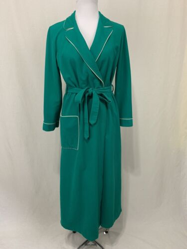 Vintage Kayser size Medium Teal Fuzzy Wrap Robe Dr