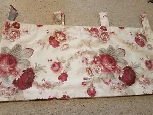 Waverly-Garden-Room-Vintage-Rose-tab-top-Valance-excellent-condition-17-60-in