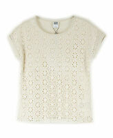 VERO MODA Damen T-Shirt 10090478 LERRY SS TOP, Farbe Elfenbein (WHITE SWAN )
