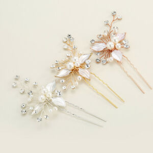 Mode-Haarnadeln-Frauen-Hochzeit-Haarschmuck-Braeute-Kristall-Rhinestones