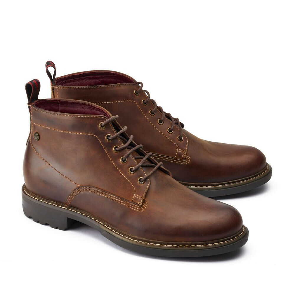 Mens Base London Clifton Lace Pull Up Boot Tan