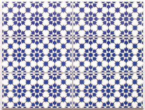 spanische musterfliesen jazmin azul f r mosaik 2te wahl. Black Bedroom Furniture Sets. Home Design Ideas