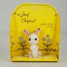 Vtg Josef Original Porcelain Miniatures Bunny Rabbit Figurine Original Package