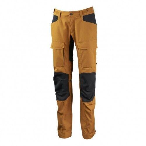 Lundhags Authentic II WS Pant Trekkinghose Damen gelb Wanderhose Outdoor Hose