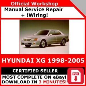 Details about FACTORY WORKSHOP SERVICE REPAIR MANUAL HYUNDAI XG 1998-2005 on