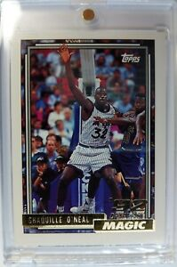 Rare-1992-Topps-Gold-039-92-Draft-Pick-Shaquille-O-039-Neal-362-Rookie-RC-Magic