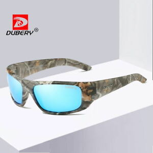 55bf76d16cfa Image is loading DUBERY-10-Colours-Men-Sport-Polarized-Sunglasses-Outdoor-