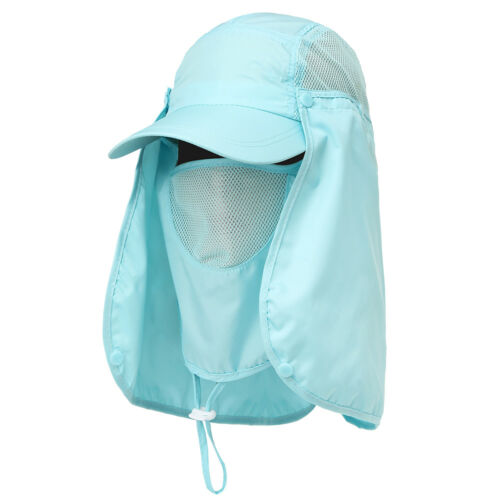 Fishing Farmer Wide Brim Cap Neck Face Flap Outdoor Work Sun Protection Hat